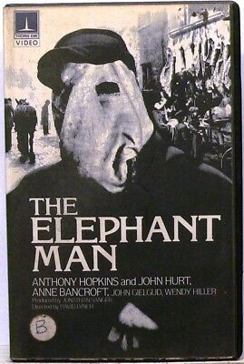 THE ELEPHANT MAN Betamax Thorn EMI Pre-Cert Ex-Rental DAVID LYNCH JOHN HURT