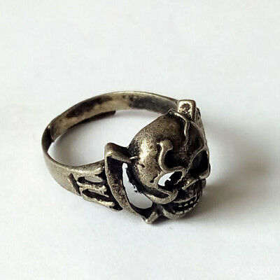 New Hot Fashion Popular Tibetan Vintage Silver Plated Hollow out ghost Rings#07