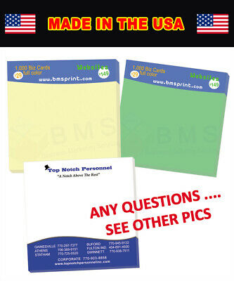 500 Custom Sticky Notes (post it) Full Color/4 Color process SPECIAL LOW PRICE!