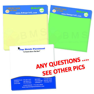 500 Custom Sticky Notes (post it) Full Color/4 Color process 50 sheets per pads