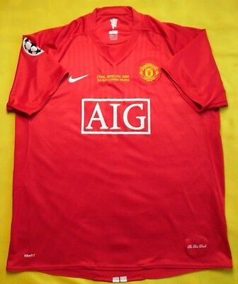 4.9/5 Manchester United Moscow UCL Final 2007~2008 Jersey Shirt Kit Maglia NIKE