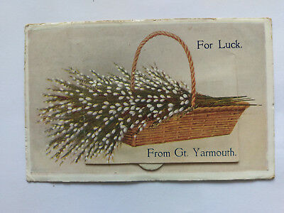Great Yarmouth Vintage colour Postcard 1920 Novelty letter card