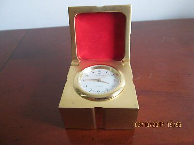 Small Clock In Gold Couloured  Box