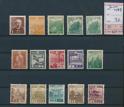 LH26228 Japan 1937 local motifs fine lot MNH cv 32 EUR