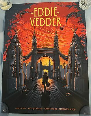Eddie Vedder Poster from London night 2 show on June 7, 2017