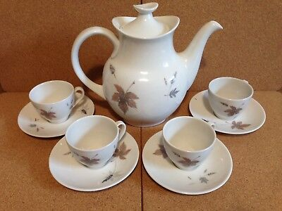 Royal Doulton Bone China Coffee Set Tumbling Leaves Collection 15 Pieces