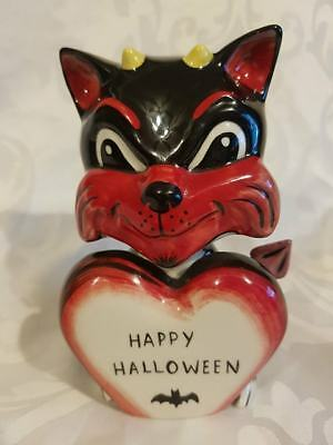 RARE Lorna Bailey Happy Halloween MEPHISTO ONE OFF 1/1 Signed in Black