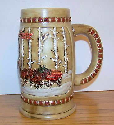 Budweiser 1981- Christmas  Holiday Stein - Second In The Series - Cs-50 #2