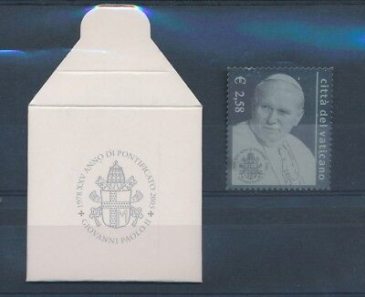 LH25127 Vatican 2003 pope John Paul II silver stamp with cover MNH