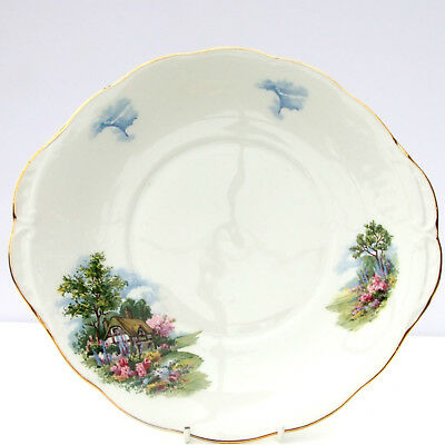 Vintage Royal Vale Bone China Thatched Country Cottage