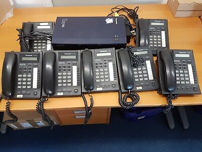 Panasonic KX-TDA15 Phone system with 7 handsets