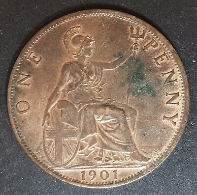 1901 Victoria One Penny