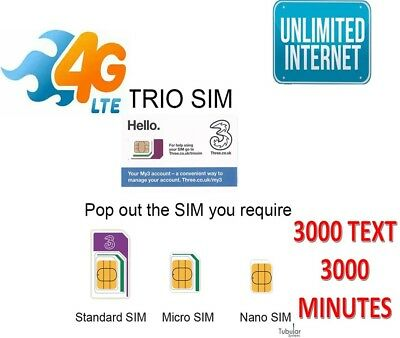EE 4G Trio SIM Card Preloaded With £10 And 10GB Data For + 30 Days