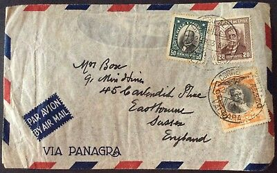 Chile. Air Mail Cover Mixed Stamps