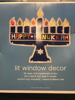 Chanukah  Lite Up Decoration For Window NEW