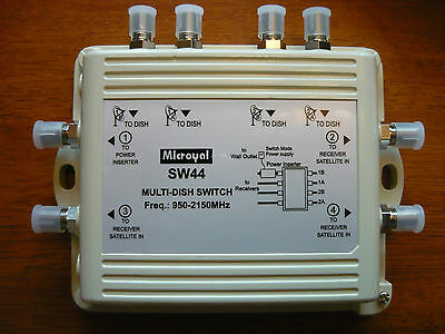 NEW MICROYAL SW44 Network/Bell EXPRESS VU MULTI DISH SWITCH ONLY