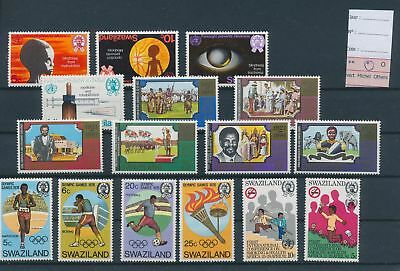LH26828 Swaziland nice lot of good stamps MH