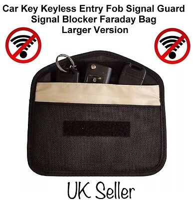 Car Key Keyless Entry Fob Signal Guard Blocker Faraday Bag - LARGE Version