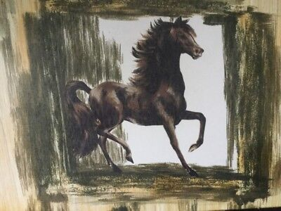 Rare Vintage Retro Large Wood & Melamine Horse Tray By LADY CLARE - Equestrian