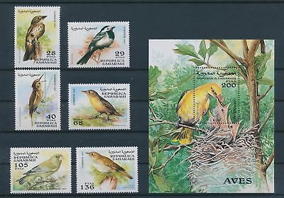 LH25898 Spanish Sahara 1997 animals fauna flora birds fine lot MNH