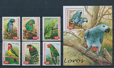 LH25899 Spanish Sahara 1998 parrot animals fauna flora birds lot MNH