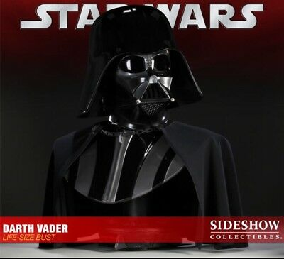 Sideshow Collectibles Star Wars Darth Vader 1:1 Life Size Bust Helmet Not MR