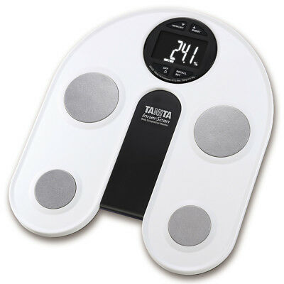 Tanita Body Fat Monitor Scale with White Backlit LCD Display Fat Water Weighing