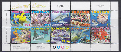 Tokelau 2007 Marine Life mini sheet um-mint