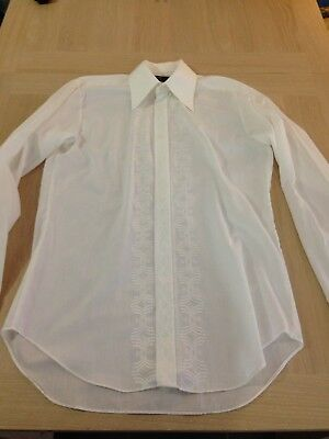 Vintage 1970's M&S Mens Formal Shirt - Long Sleeve - Double Cuff - St Michael S