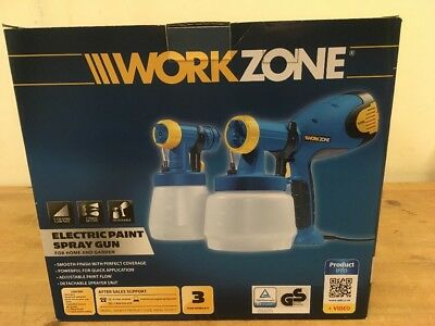 Work Zone Electric Paint Spray Gun Electric Tool Painting Decorating New In Box