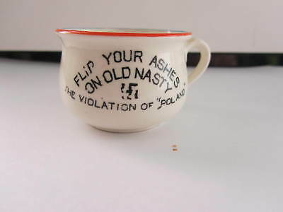 Ww2 Homefront Item......hitler Chamber Pot  Flip Your Ashes On Old Nasty