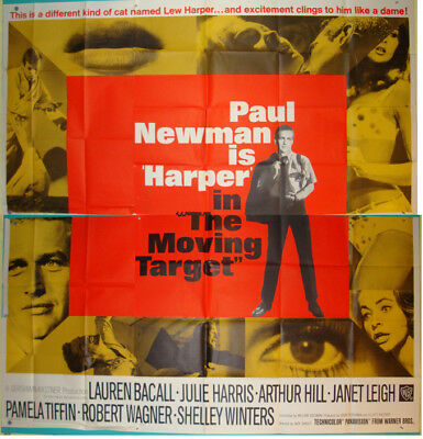 Harper aka The Moving Target-J.Smight-P.Newman-L.Bacall-6sh (81x81 inch)