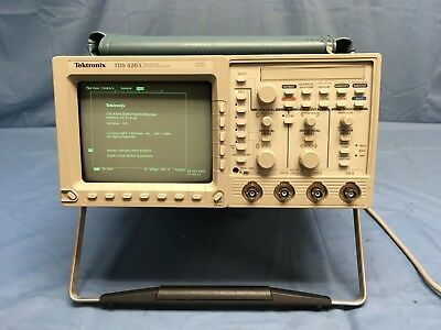 Tektronix TDS420A 200Mhz Oscilloscope W/ One P2220 Probe And Opt. 1M TESTED