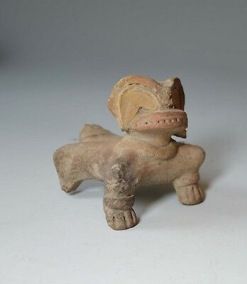 PRE COLUMBIAN ANCIENT South America Jama feline figure Circa Bc-350 Ad-500