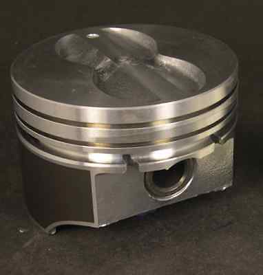 Silvolite Chevy 350 Hypereutectic Coated Flat Top Pistons Cast Rings 9.5:1 STD