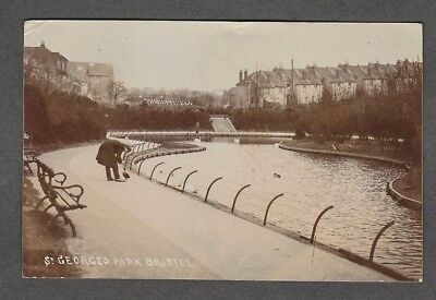 Bristol - St. Georges Park Real Photo Post Card 1910