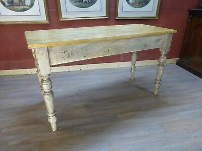 original painted  pine table dining table kitchen table  antique vintage