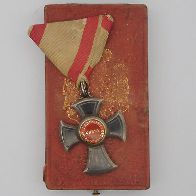 Montenegro Medal Order of Danilo I Knight class with case Austria type