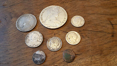lot  Silver Coin Victoria, George, M. Theresia thelar