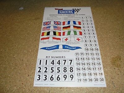 Scalextric A/236 Flag/Pit and Car numbers ( re print as per original )
