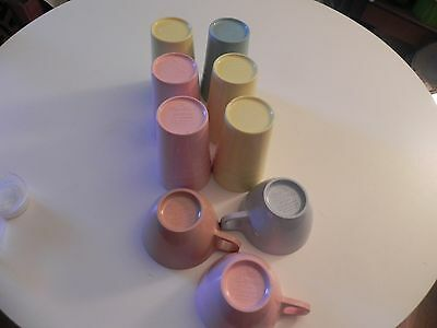 mallow ware cups and glasses