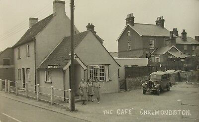 Classic Car (Reg Bho 526) At The Cafe Chelmondiston Suffolk Early Pb Rp Pc