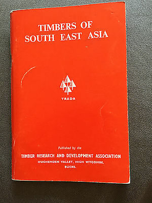 """1973 """"timbers Of South East Asia"""" Woodworking Paperback Booklet"""