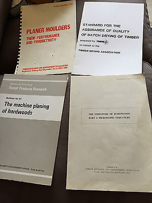 4 x VINTAGE TIMBER WOOD-RELATED PAPERBACK DOCUMENT BOOKS