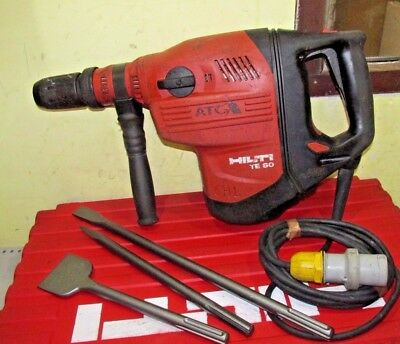 HILTI TE80-ATC Hammer Drill Breaker SDS MAX 110v with chisels and case