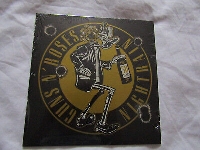 Guns N' Roses - Nightrain Red Vinyl 7 Inch Single + Foil Lithograph  -  Afd 30