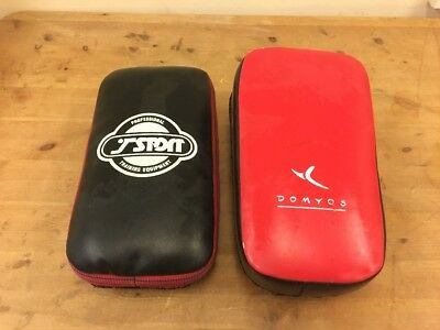 2 X Used Focus Pads Punch Jab Mitts Shield Kick Boxing