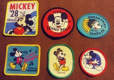 Walt Disney World Lot of 6 Mickey Mouse Vintage Sew on Cartoons Patches NEW