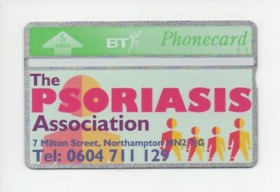 BT Phonecard BTG108, The Psoriasis Association, mint unused