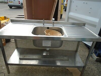 Stainless steel sink Catering 1.50 x 60